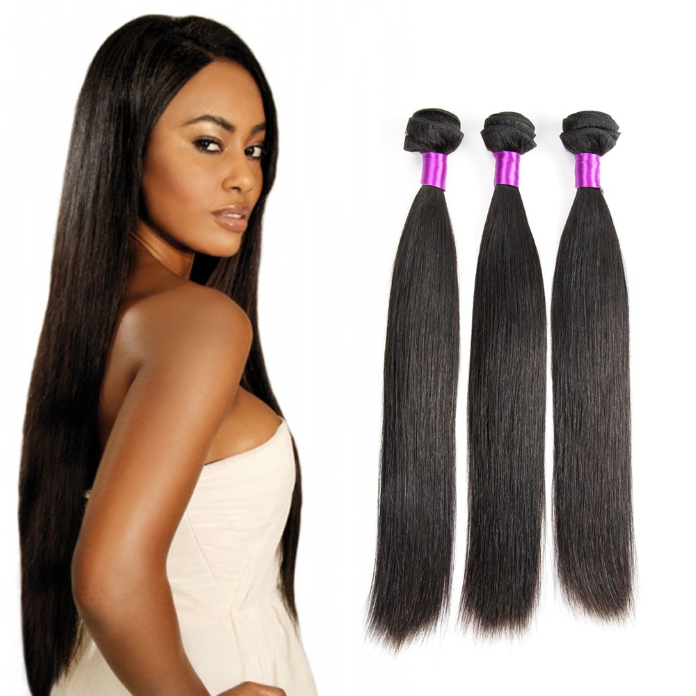Brazilian Virgin Hair Weave 3 Bundles Silky Straight Hair Weft 6a
