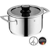 WMF Vari Ocuisine Cooking Pot Diameter 20 cm with Glass Lid – Stainless Steel, Silicone Rim, Dishwasher Safe