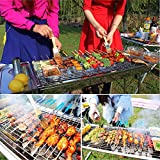 Fold Barbecue Charcoal Grill Stove Stainless Steel