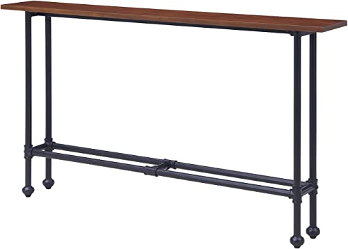 Furniture HotSpot Skinny Sofa Table Slim Console Table Dark Brown