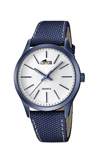 Lotus 18166/1 - Reloj de pulsera hombre, Cuero, color Azul: Lotus: Amazon.es: Relojes