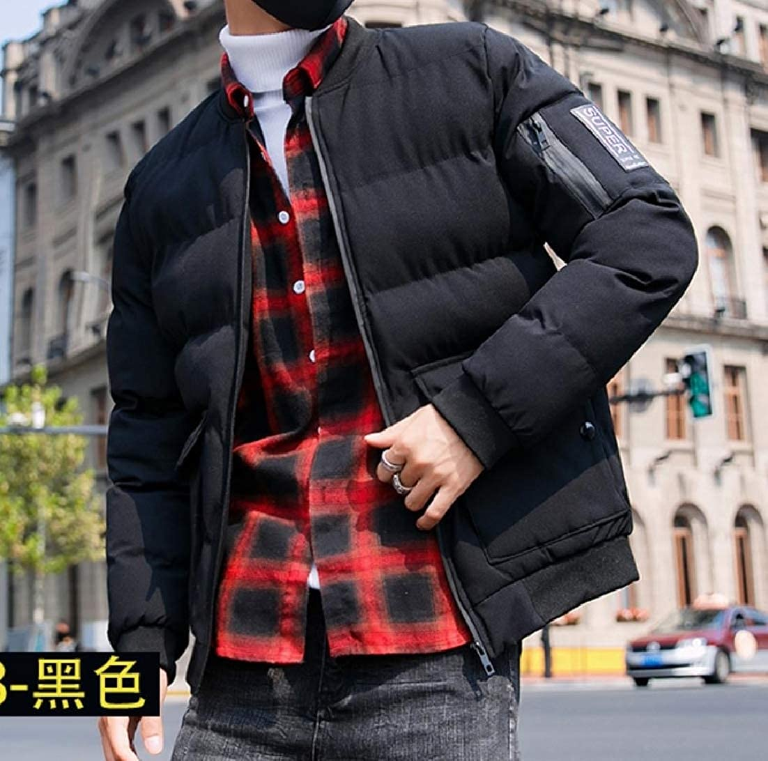 Andopa Men Loose Padded Casual Puffer Coat Warm Quilted Parka Jacket