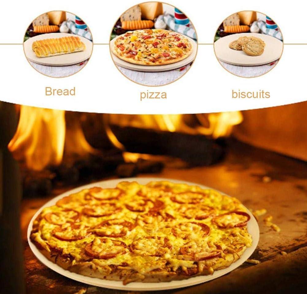 13in Redondo 12in juman634 Easy-topbuy Piedra De Pizza Redonda Cordierita Pizza Pan Cocina Piedra para Hornear para Barbacoa De Horno