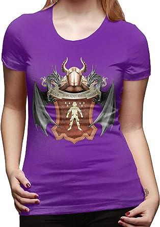FCWR-MF Camiseta Sexy para Mujer Juego de Tronos Logotipo Familiar Camisetas geniales Negro: Amazon.es: Ropa y accesorios