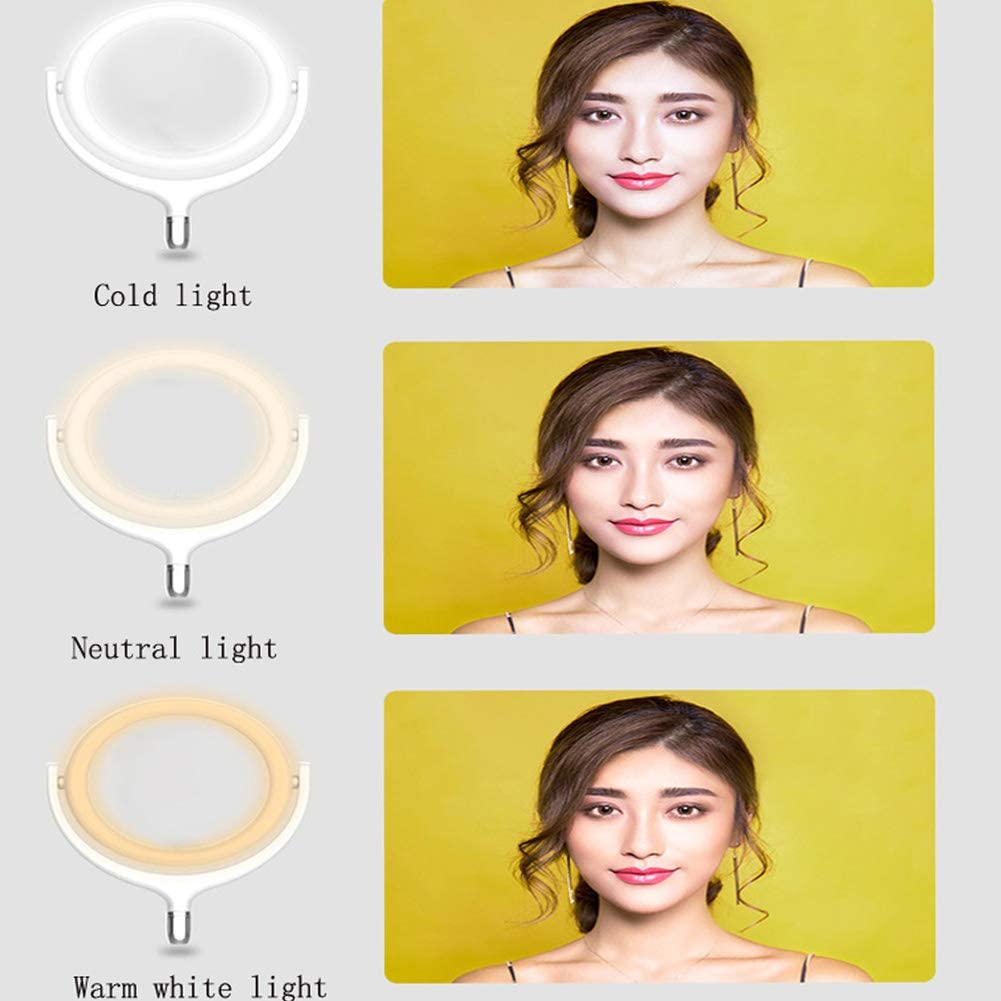 for Live Stream Makeup YouTube Video,b Huanxin 12 Ring Light Kit Dimmable LED Ring Light Beauty LED Ring Light with Stand /& Phone Holder