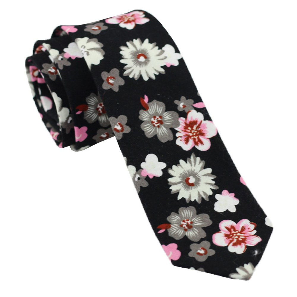 Coachella Ties Florals//flower Cotton Necktie Skinny Tie 6cm Pocket Square