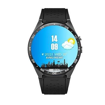 KW88 MTK6580,1.3GHz,4 GB ROM,512MB RAM,3G WIFI Smartwatch Teléfono Todo en uno Bluetooth Smart Watch con GPS, Cámara(negro)