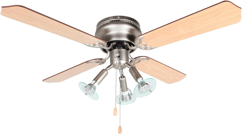 Orbegozo CT47105 Ventilador de Techo con luz, 4 Palas Reversibles ...