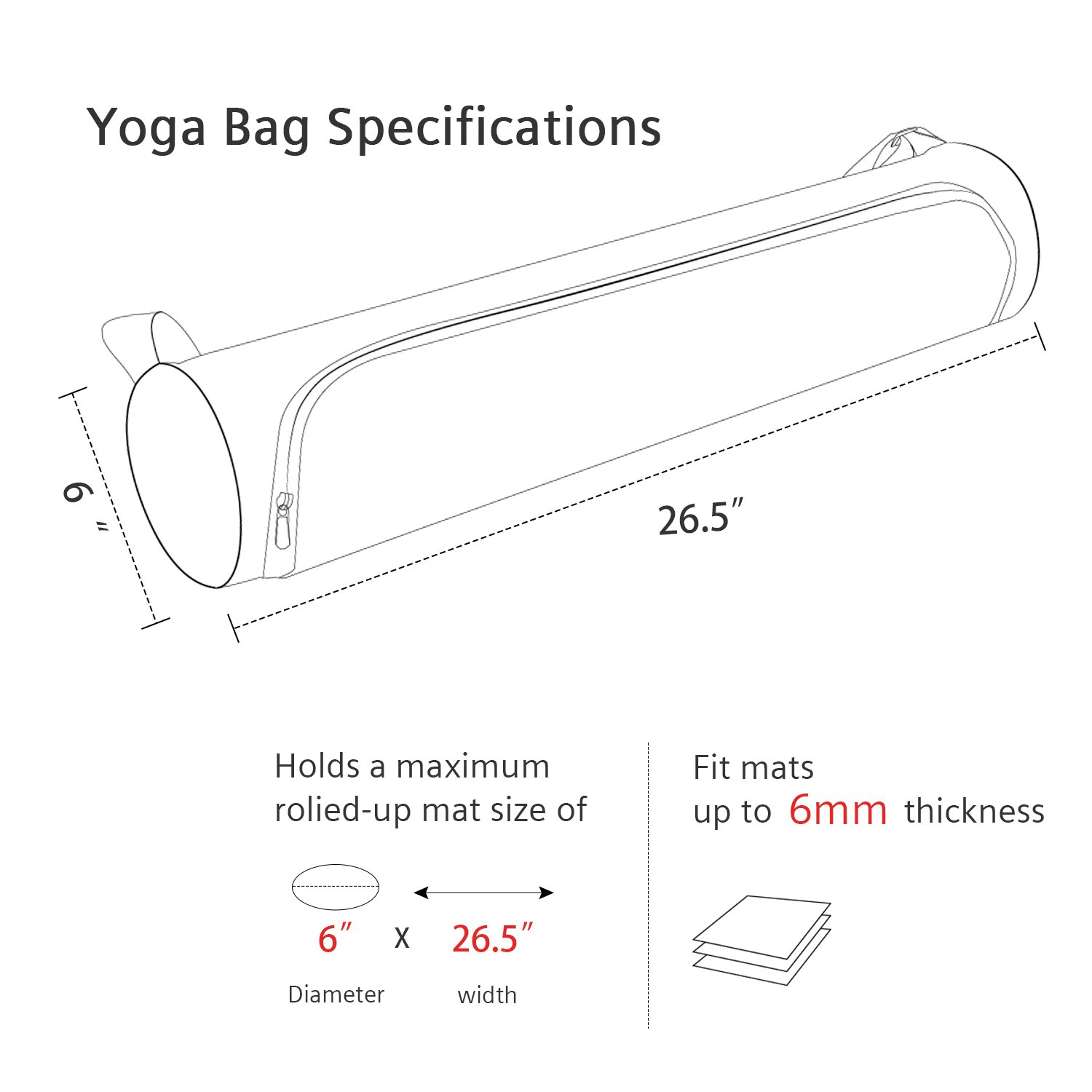 OXA Large Water Proof Yoga Mat Carry Bag with Adjustable Shoulder Strap by OXA (Image #3)