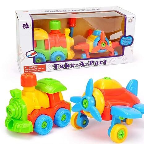 reputedc coche de juguete de desmontaje para niños, avión de ...