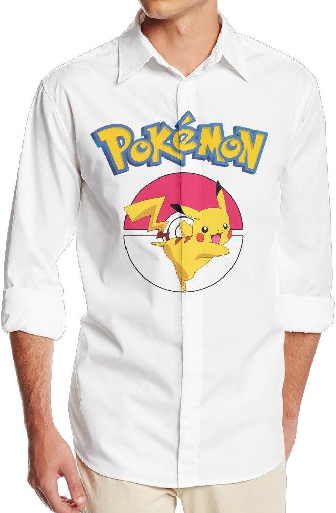 okaka Pokemon Go Logo Manga Larga Vestido Camisa sin bolsillo para hombres: Amazon.es: Ropa y accesorios