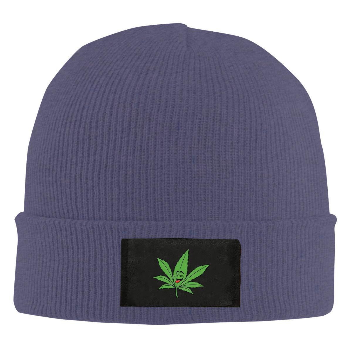 Ganja Leaf Weed Smokers Winter Beanie Hat Knit Hat Cap for Men /& Women