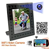 Panoraxy WiFi Hidden Spy Camera,Picture Frame Nanny Cam, 100% Wirefree,10mtrs Night Vision, PIR Activated Local Record, Stunning Live Stream, 10400mah Battery 360days Standby, Instant Push, Free IOS& Android App, Easy Operation,Wall Mount or On Table