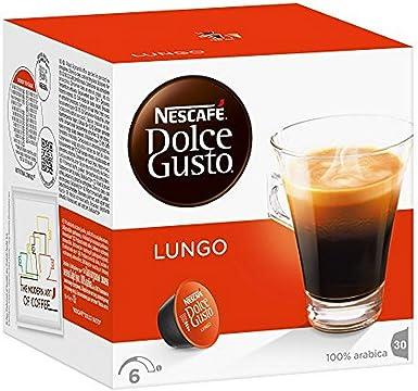 Nescafé Dolce Gusto Caffè Lungo - Caja de 30 cápsulas de café ...