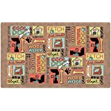 Drymate Dog Bowl Place Mat, 12 by 20-Inch, Brown