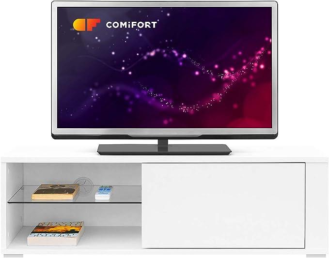 COMIFORT Mueble de TV - Mesa de Salón Moderno, Puerta con Sistema ...