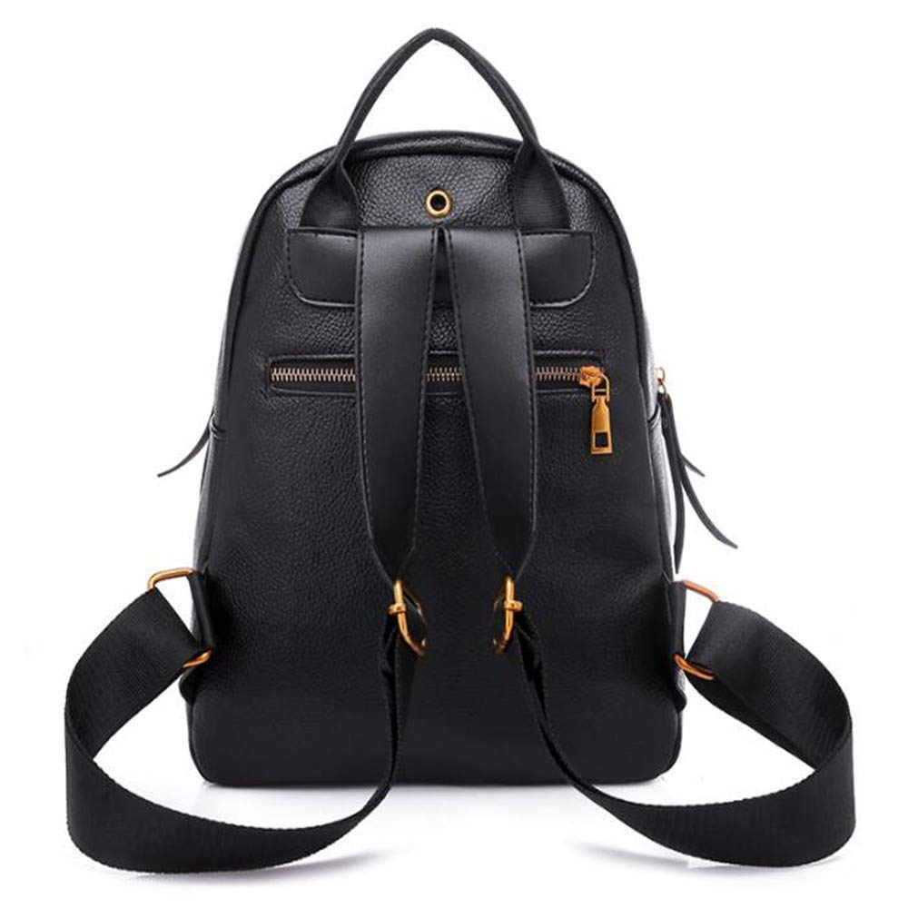 LIZHONG-SLT Fashionable Shoulder Bag, Women's Tide, Little Bag, Soft Leather PU Leisure Bag,Black,(Width 24cm Thickness 18cm high 30cm) by LIZHONG-SLT (Image #2)