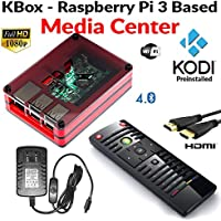 Raspberry Pi 3 Based - Extreme Media Center - Red Case - Ir Remote - Kodi