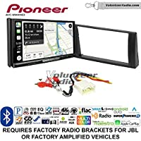 Volunteer Audio Pioneer AVIC-W8400NEX Double Din Radio Install Kit with Navigation, Apple CarPlay and Android Auto Fits 2002-2006 Toyota Camry with Amplified System
