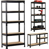 Yaheetech Heavy Duty 5-Tier Garage Shelves Kitchen Heavy Pots Pans Storage Shelving Rack 70x30x150CM