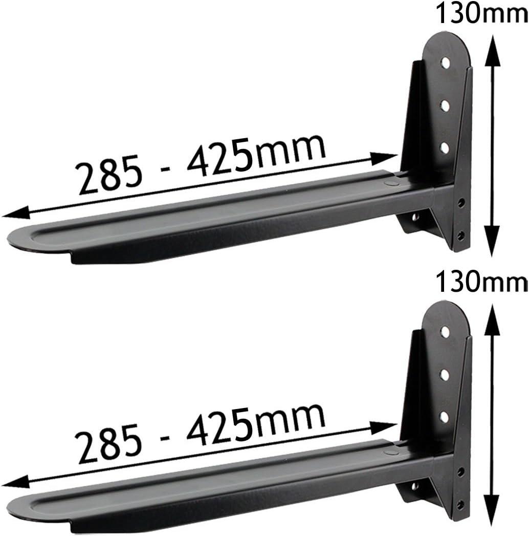 Spares2go - Soporte extensible ajustable para hornos microondas Samsung, color negro
