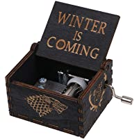 Game of Thrones House Stark Black Edition Hand Carved Wood Music Box