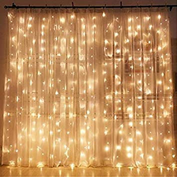 Twinkle Star 300 Led Window Curtain String Light Wedding Party Home Garden Bedroom Outdoor Indoor Wall Decorations Warm White