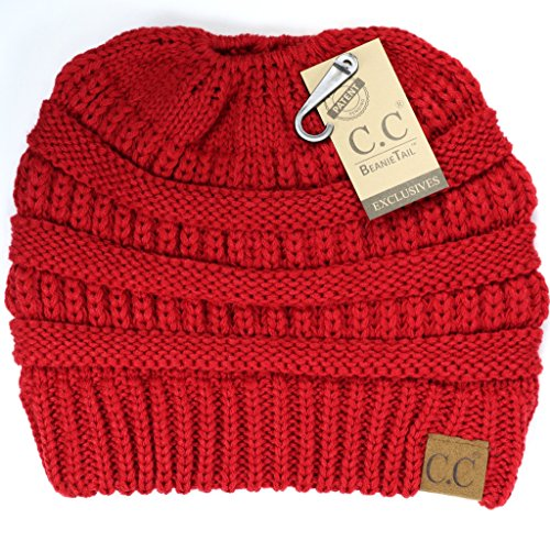 Crane Clothing Co Womens Solid Classic CC Beanie Tail