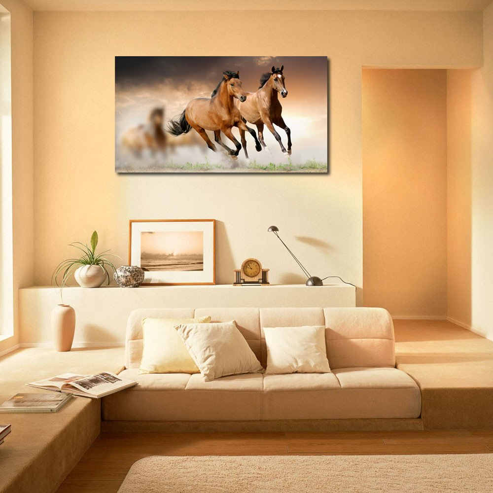 Running Horses Printed Home Decor Like Modern Wall Art Painting   Large  Size ( 91 Cms X 61 Cms): Amazon.in: Home U0026 Kitchen Part 70