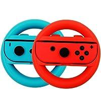 Sonolife Soporte en Forma de Volante para Controles Joy Con de Nintendo Switch - Colores en Azul y Rojo