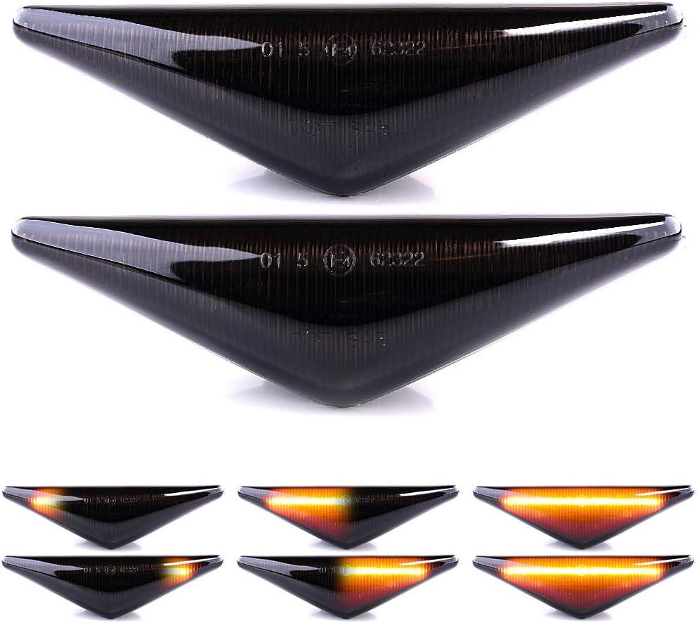 Lightdelux Ersatz Für Led Blinker Seitenblinker Blinkleuchte Kotflügel Blinker Dynamisch Links Rechts Ohne Fehlermeldung Mit E4 Prüfzeichen Black Vision V 1707089lg Auto