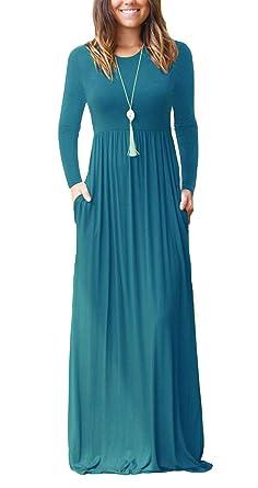 Loose Blue Maxi Dress