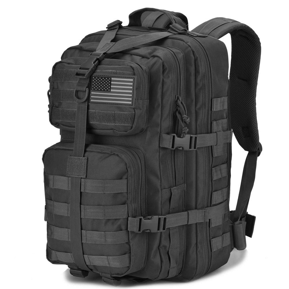 DIGBUG Military Tactical Backpack Large Army 3 Day Assault Pack Molle Bug Bag Backpacks Rucksacks for Outdoor Sport Hiking Camping Hunting 40L Black by DIGBUG