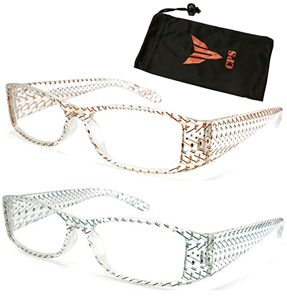 74fa581d2ec6 Amazon.com  Clear Transparent Translucent Crystal Frame Clear Lens Reading  Glasses Readers  Clothing