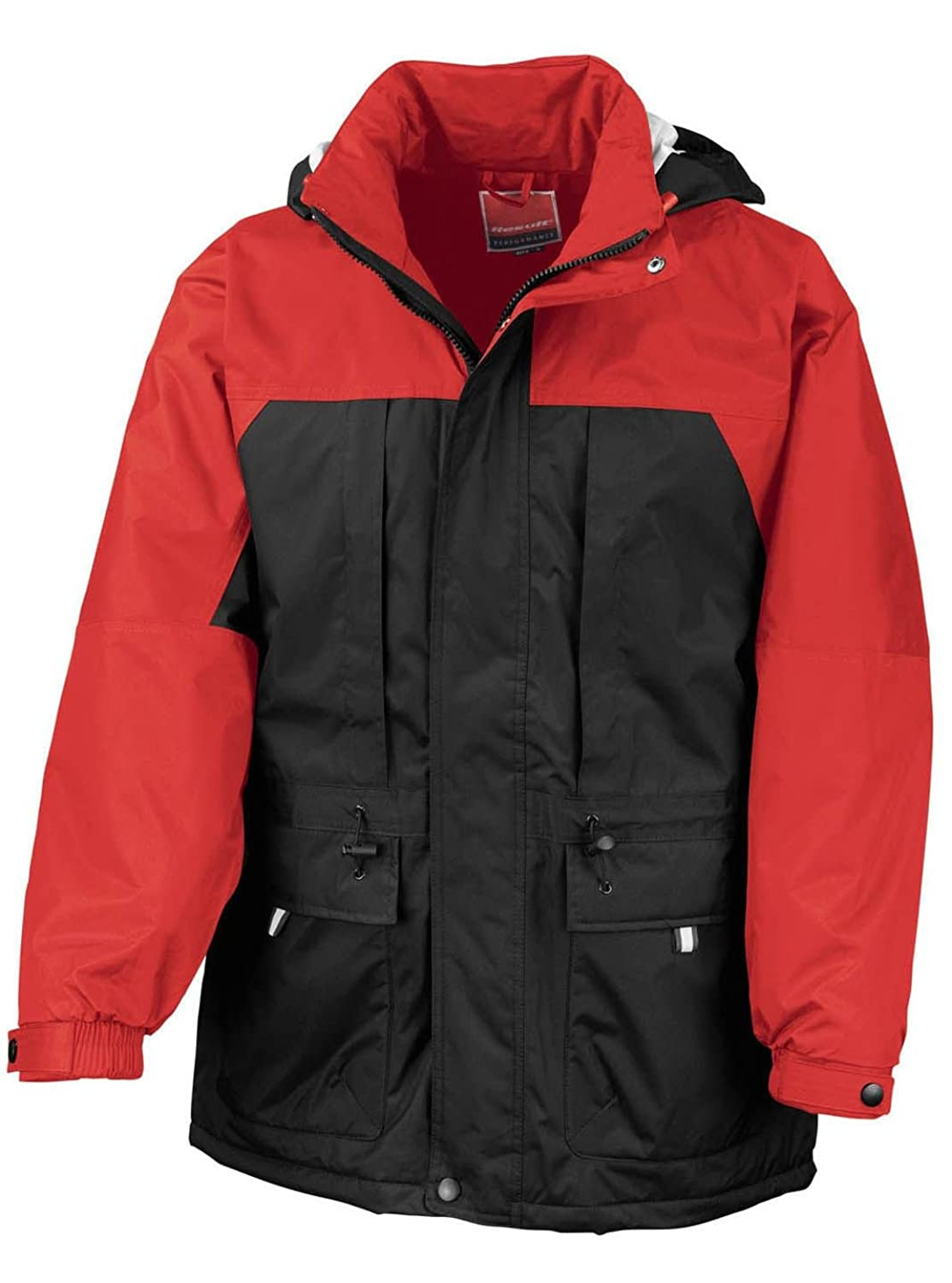 Result R065X Multi Function Winter Jacket Coat Black/Red 3XL