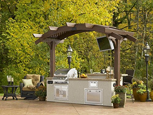 The Outdoor GreatRoom Company Outdoor GreatRoom Sonoma 10 ft. Mini Arched Pergola (Pergola Dining Area)
