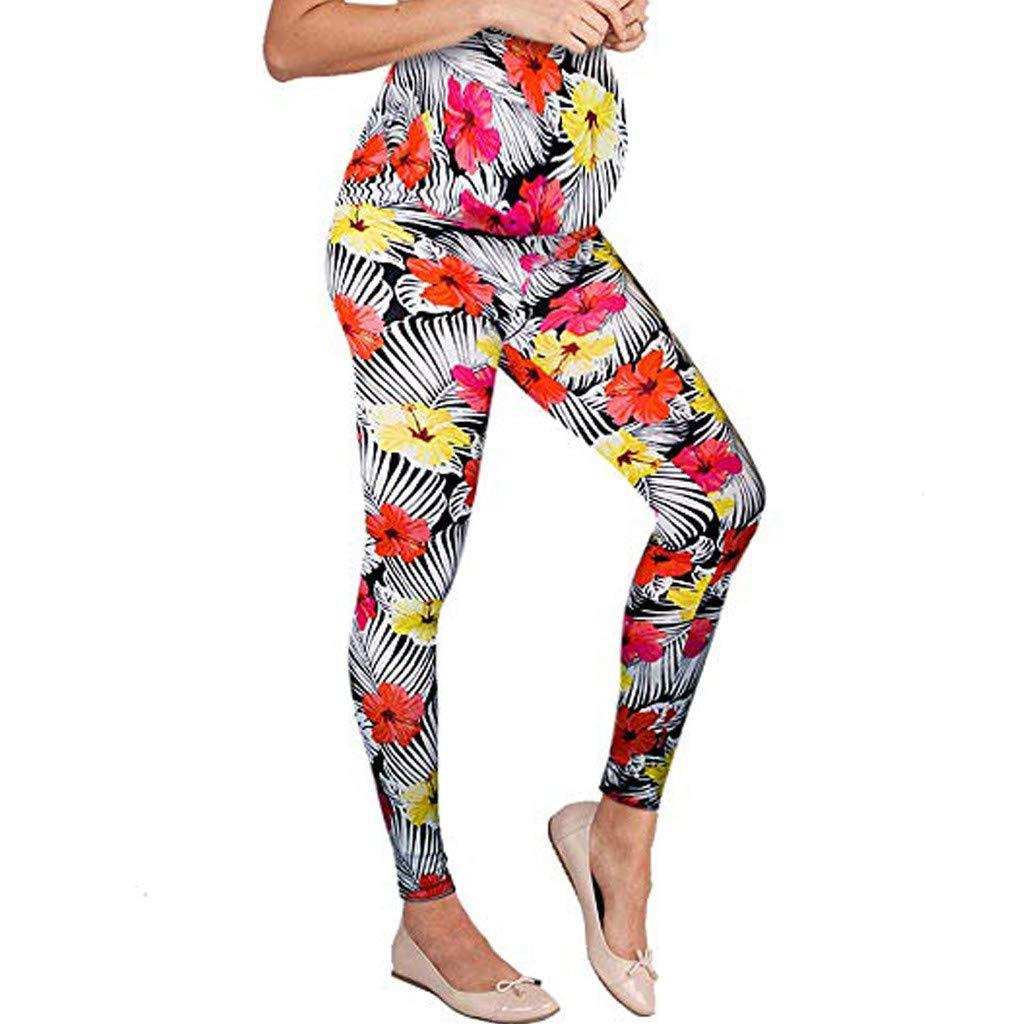 4b5cec49f5537 Amazon.com: Maternity Leggings For Women Seamless Stripe Floral Stretch  Pregnancy Trousers: Appliances