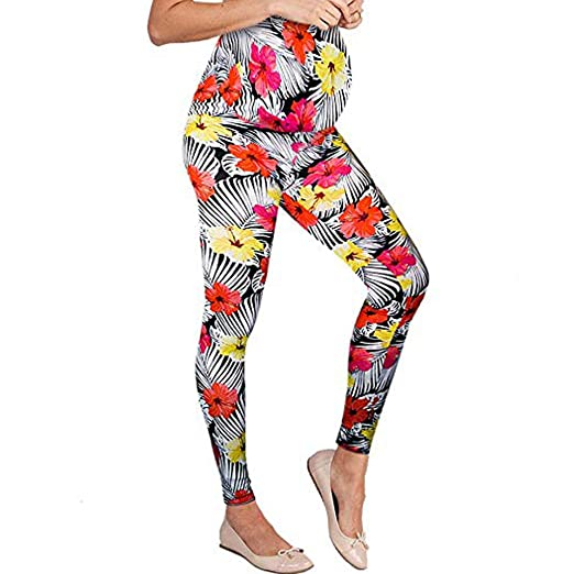 ec233d3f00c8f Image Unavailable. Image not available for. Color: Alimao Maternity,Striped  Flower Maternity Tights Activewear Leggings,Gym Clothes Jeggings Pants  Stretch ...