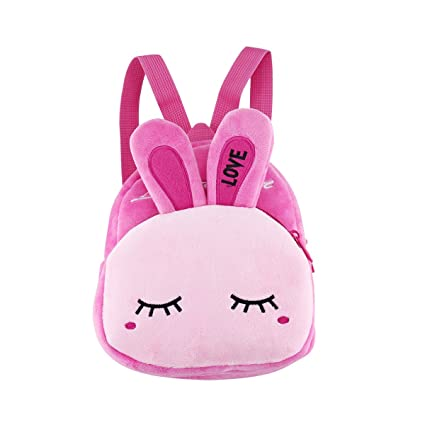 7ae14d7aa545 Toddler Backpack Mini Backpack for Little Girls Preschool Shoulder Bags  Baby Kid Plush Rabbit Bag Cute