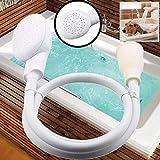 Elever Shower Head Spray Drains Strainer Hose Sink Washing Hair Dog Shower Head Pet Bath Tool (White(52 Inchs))