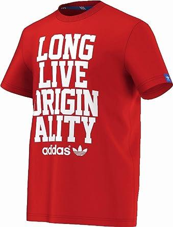 adidas originals herren t-shirt rot