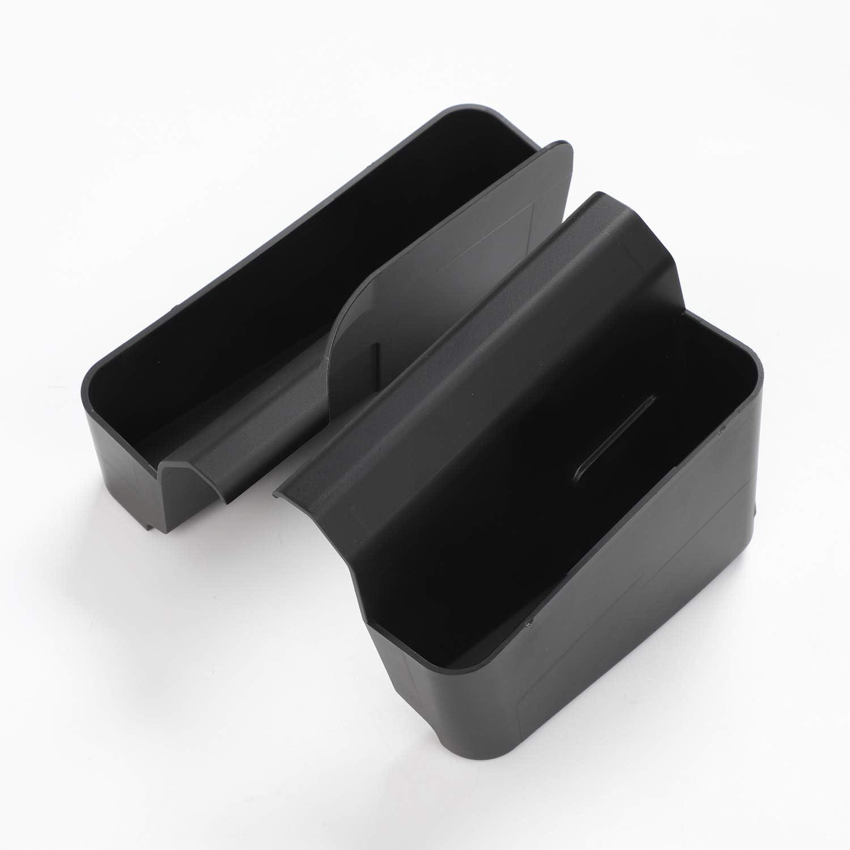 RT-TCZ JK Gear Shift Storage Box Console Side Pocket Center Console Auto Organizer Tray Phone Storage Compartment for Jeep Wrangler 2007-2010 JK JKU Interior Accessories Black