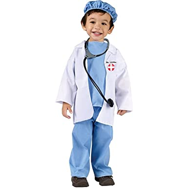 Fun World Costumes Babyu0027s Doctor Toddler Costume Blue/White Large(3T-  sc 1 st  Amazon.com : doctors costumes  - Germanpascual.Com