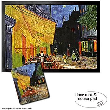 Set 1 Fussmatte Turmatte 70x50 Cm 1 Mauspad 23x19 Cm Vincent