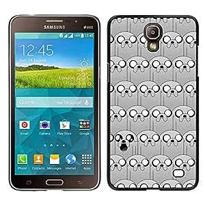 Cachorro de dibujos animados patrón carácter cómico - Metal de aluminio y de plástico duro Caja del teléfono - Negro - Samsung Galaxy Mega 2