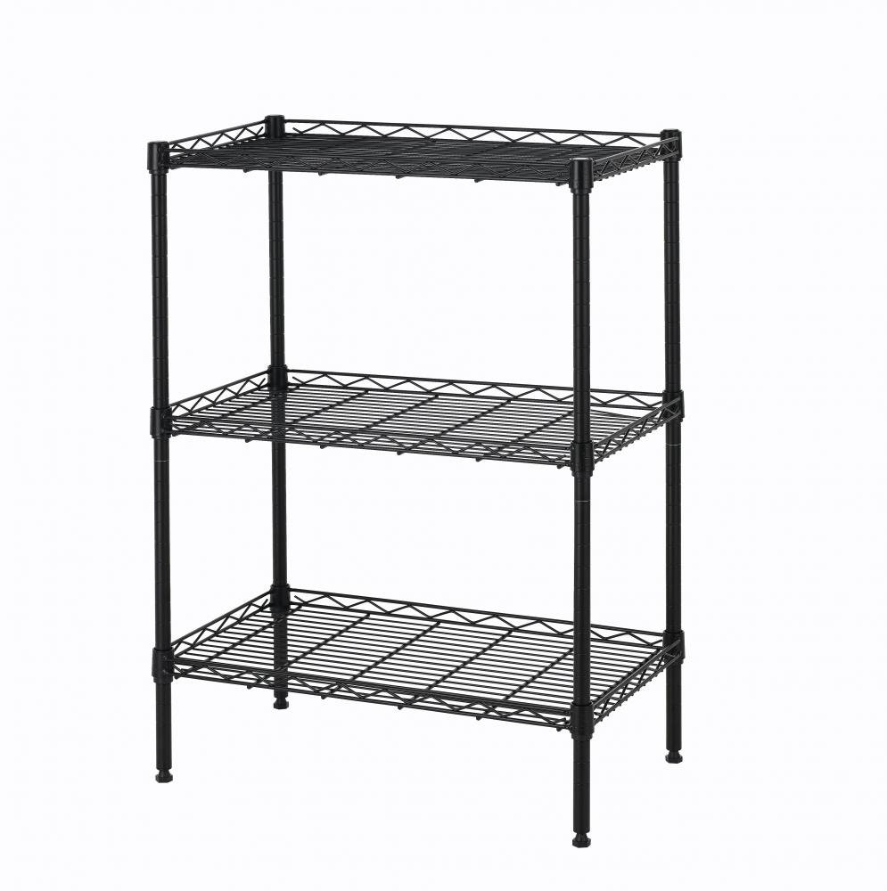 New Wire Shelving Cart Unit 3 Shelves Shelf Rack