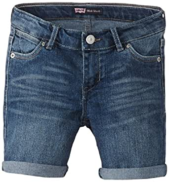 Levi's Big Girls' Creekside Midi Short, Farrah, 7
