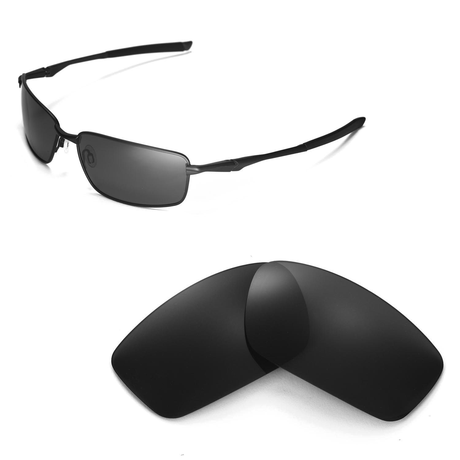 Amazon.com  Walleva Replacement Lenses for Oakley Splinter Sunglasses -  Multiple Options Available (Black - Polarized)  Clothing 743f3aa98ebd