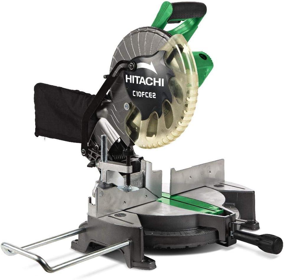 Hitachi C10FCE2 miter saw 1520 W 5000 RPM - Ingletadora (Corriente ...