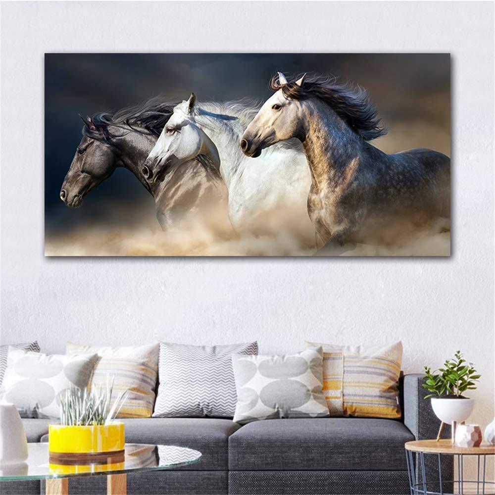 estilo clásico 2040cm 2040cm 2040cm ZUHN The Running Horse Canvas Art Animal Wall Art Poster Pictures for Living Room Home Decor  servicio honesto